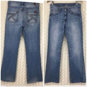 7 For All Mankind Blue Jeans Boot Cut Sz 30